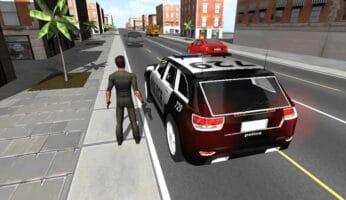 télécharger police car driver 3D